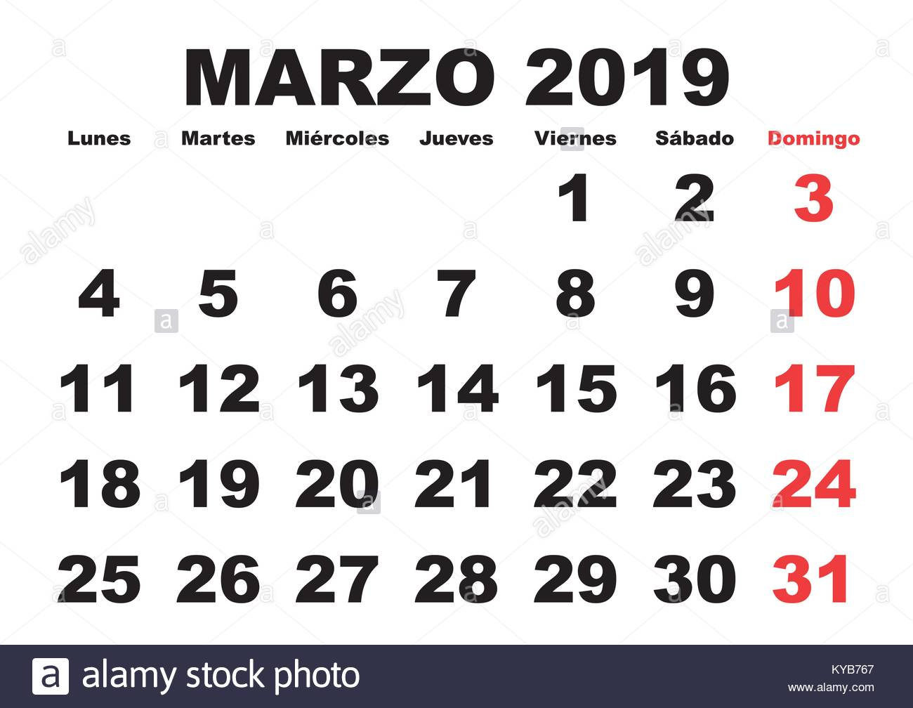 march month in a year 2019 wall calendar in spanish marzo 2019 calendario 2019