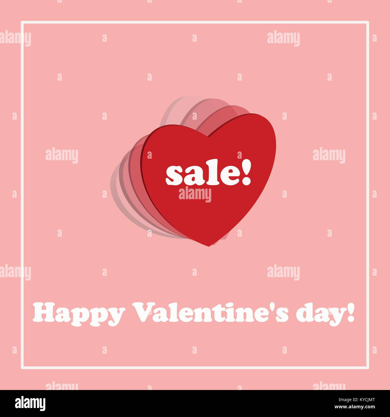 Valentine S Day Sale Banner Pink Banner With The Discount And Stock