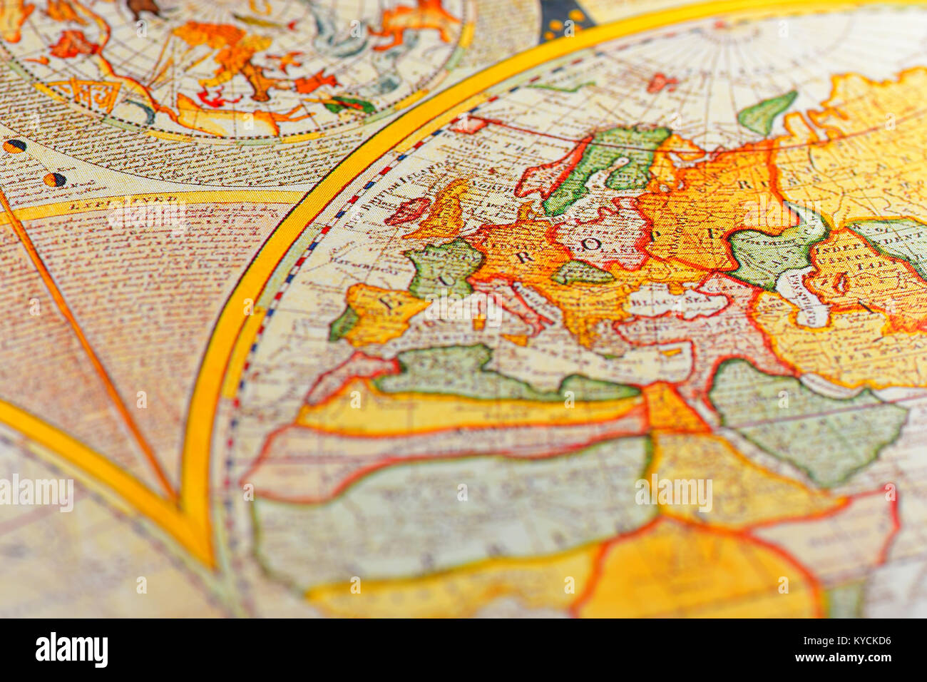 Old Antique Map Of Britain Europe Stock Photo 171767714 Alamy