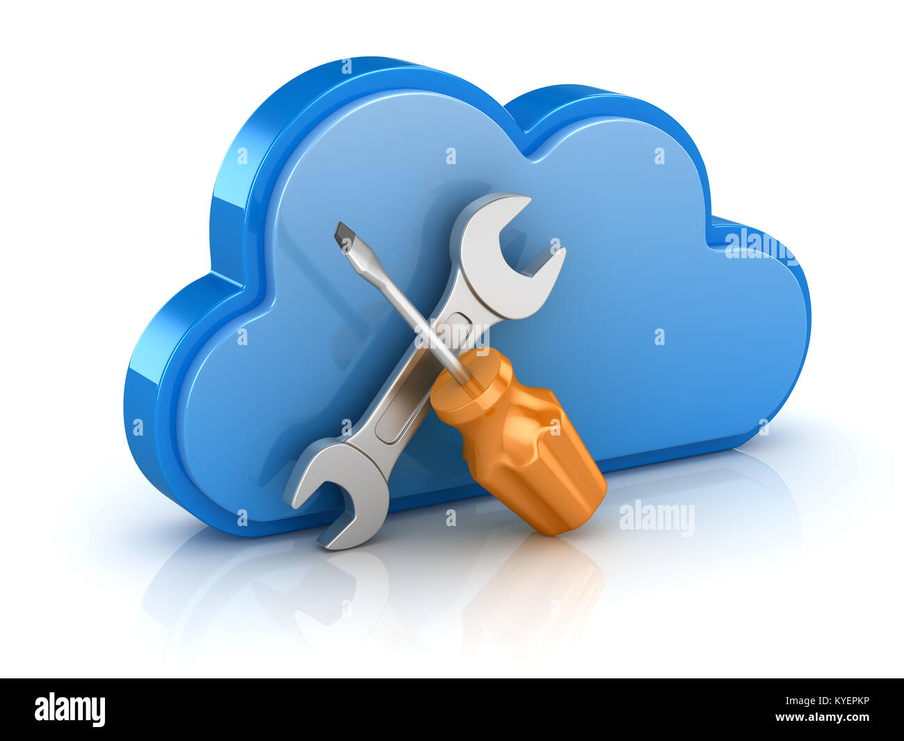 Wrench icon 3d stock photos wrench icon 3d stock images alamy screw driver and wrench with cloud this is a 3d rendered computer generated image buycottarizona