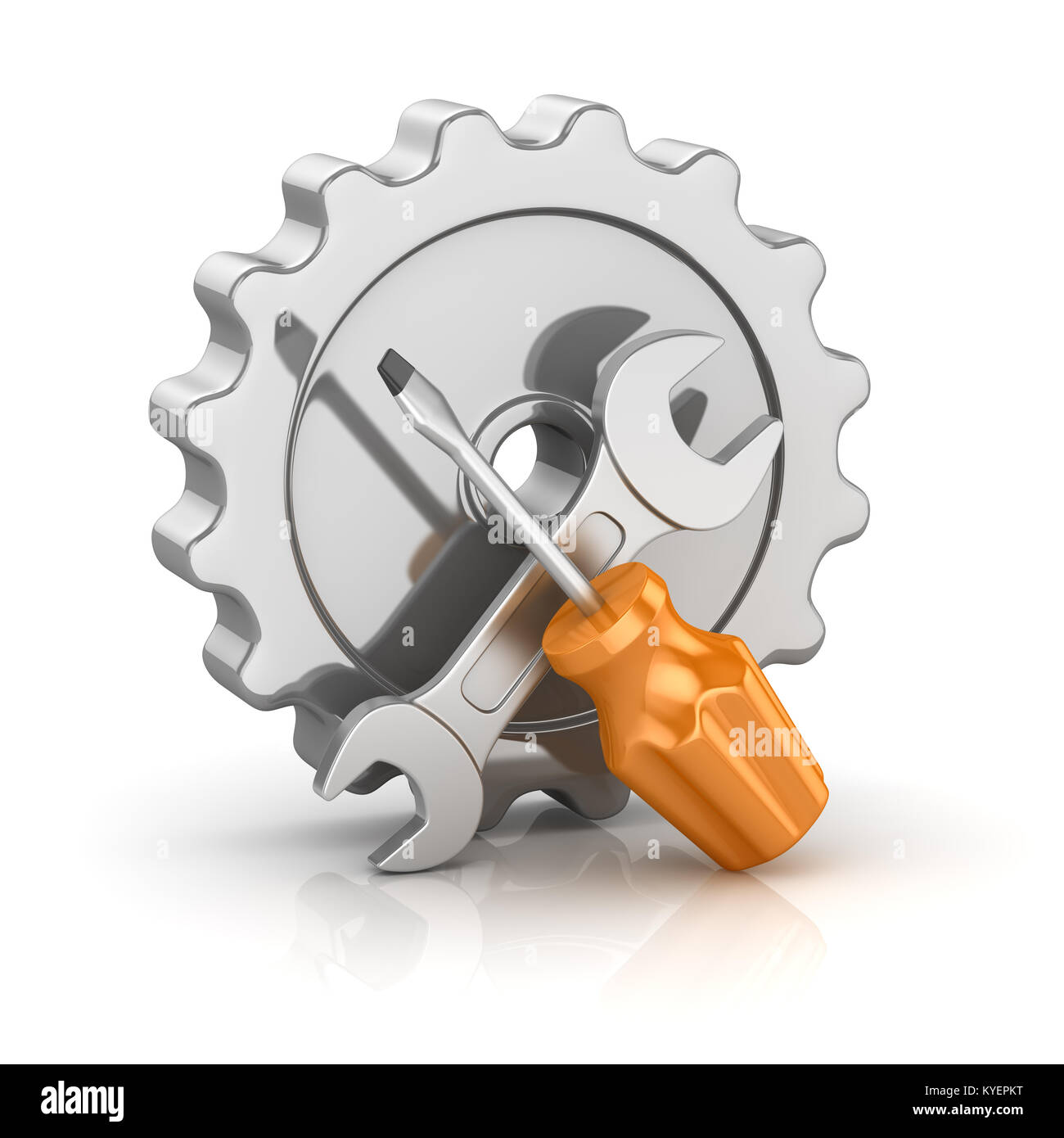 Wrench icon 3d stock photos wrench icon 3d stock images alamy screw driver and wrench with gear this is a 3d rendered computer generated image buycottarizona