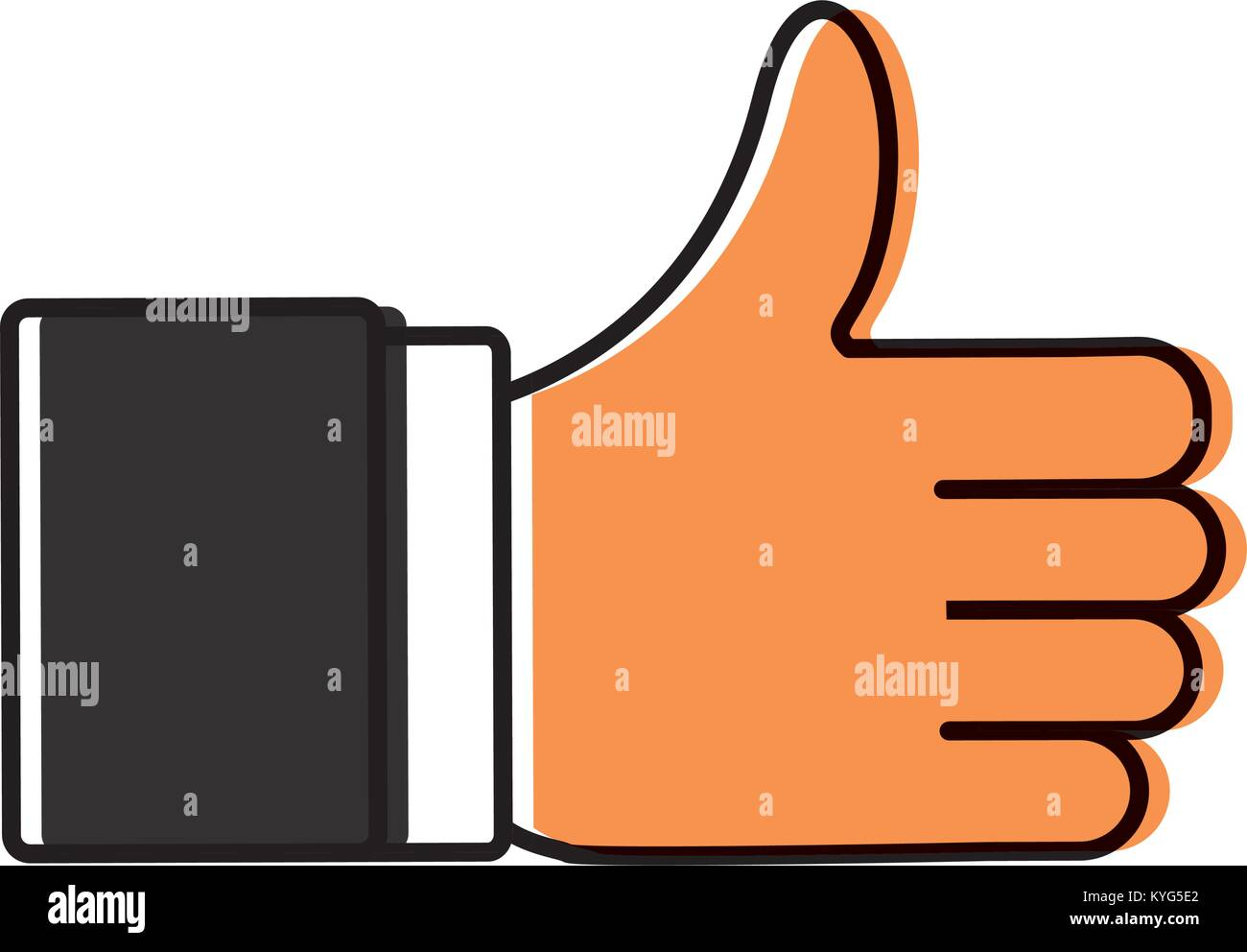 Thumb up like symbol stock vector art illustration vector image thumb up like symbol buycottarizona Choice Image