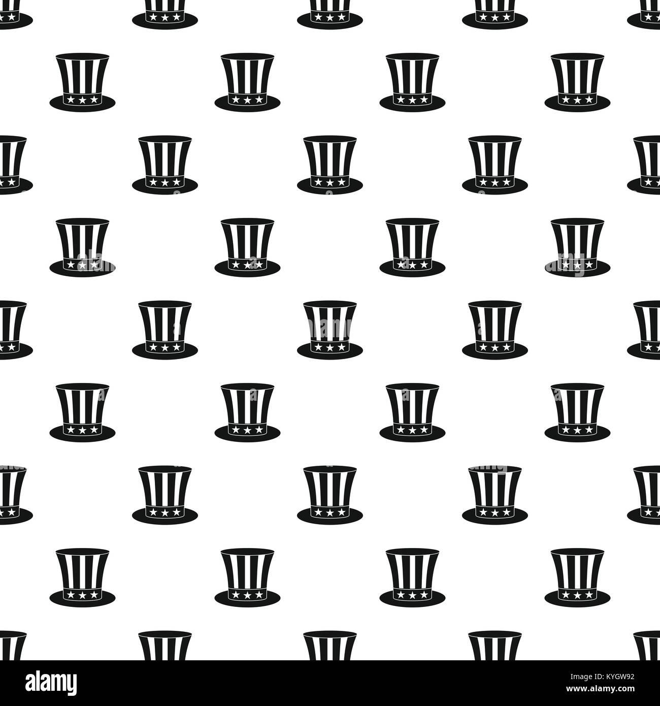 uncle sam hat pattern vector stock vector art illustration vector