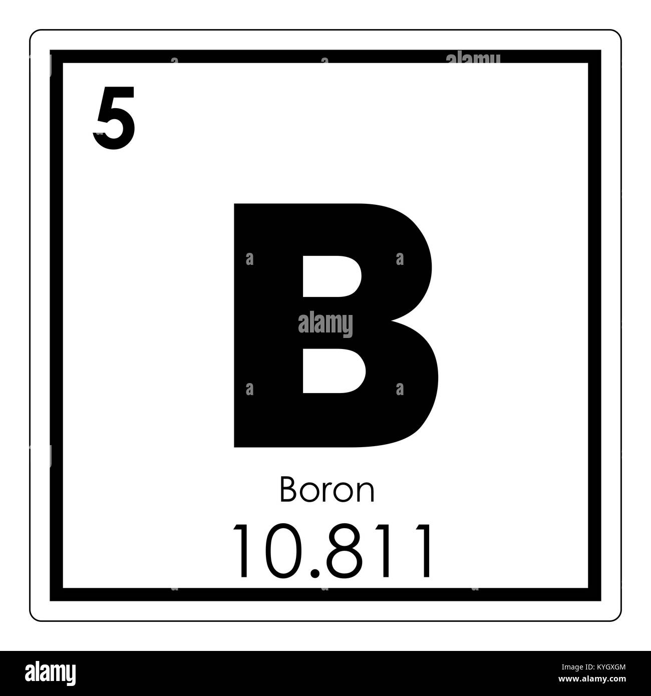 Boron chemical element periodic table science symbol stock photo boron chemical element periodic table science symbol buycottarizona