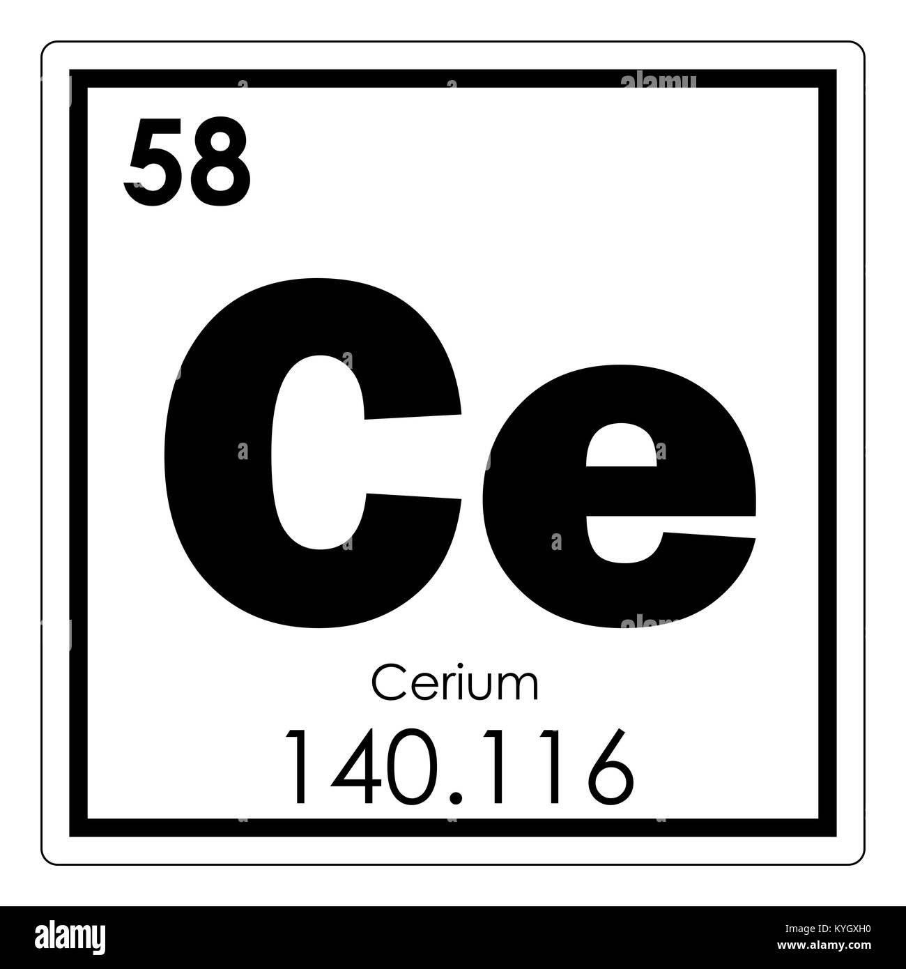 Cerium chemical element periodic table science symbol stock photo cerium chemical element periodic table science symbol urtaz Images