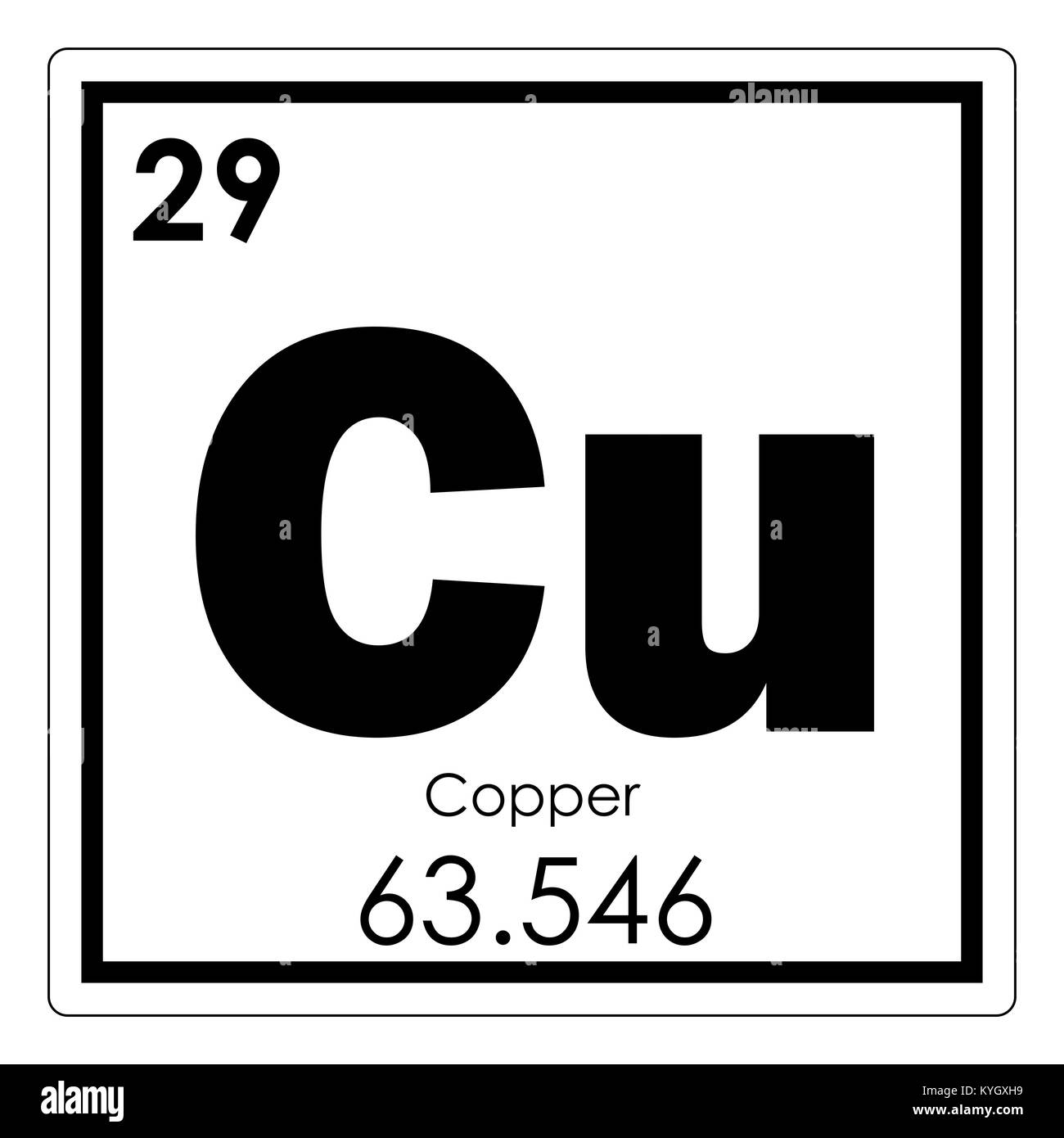 Copper chemical element periodic table science symbol stock photo copper chemical element periodic table science symbol urtaz Gallery