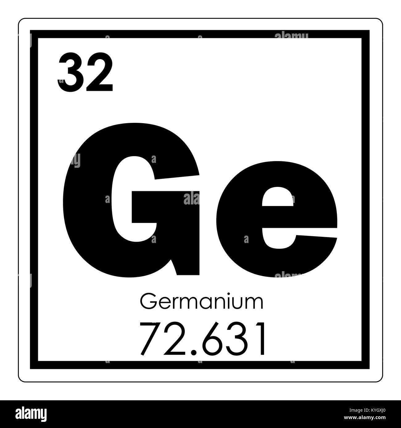 Germanium Chemical Element Periodic Table Science Symbol Stock Photo