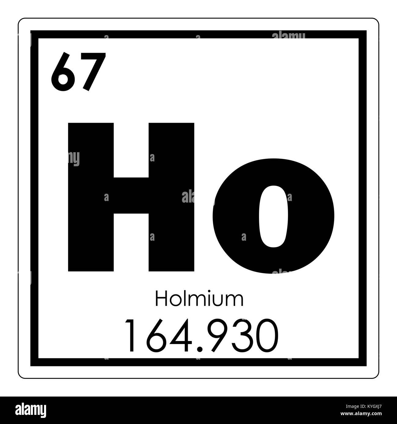 Holmium Chemical Element Periodic Table Science Symbol Stock Photo