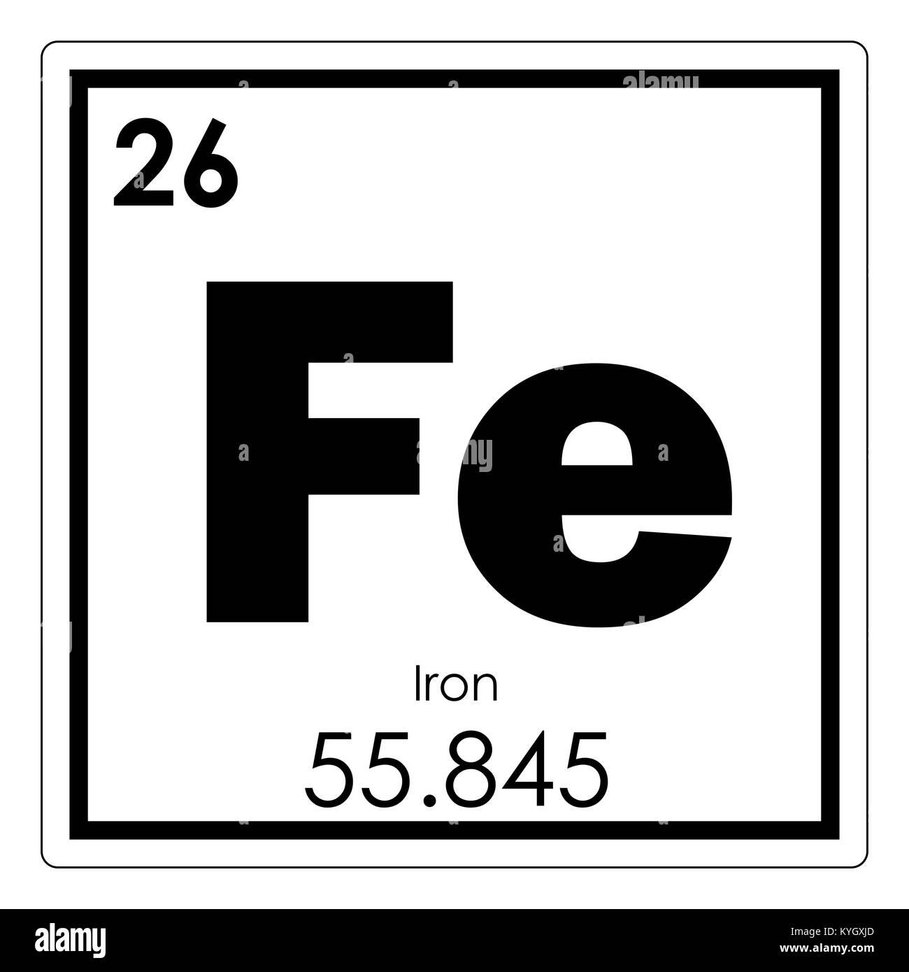 Iron chemical element stock photos iron chemical element stock iron chemical element periodic table science symbol stock image biocorpaavc