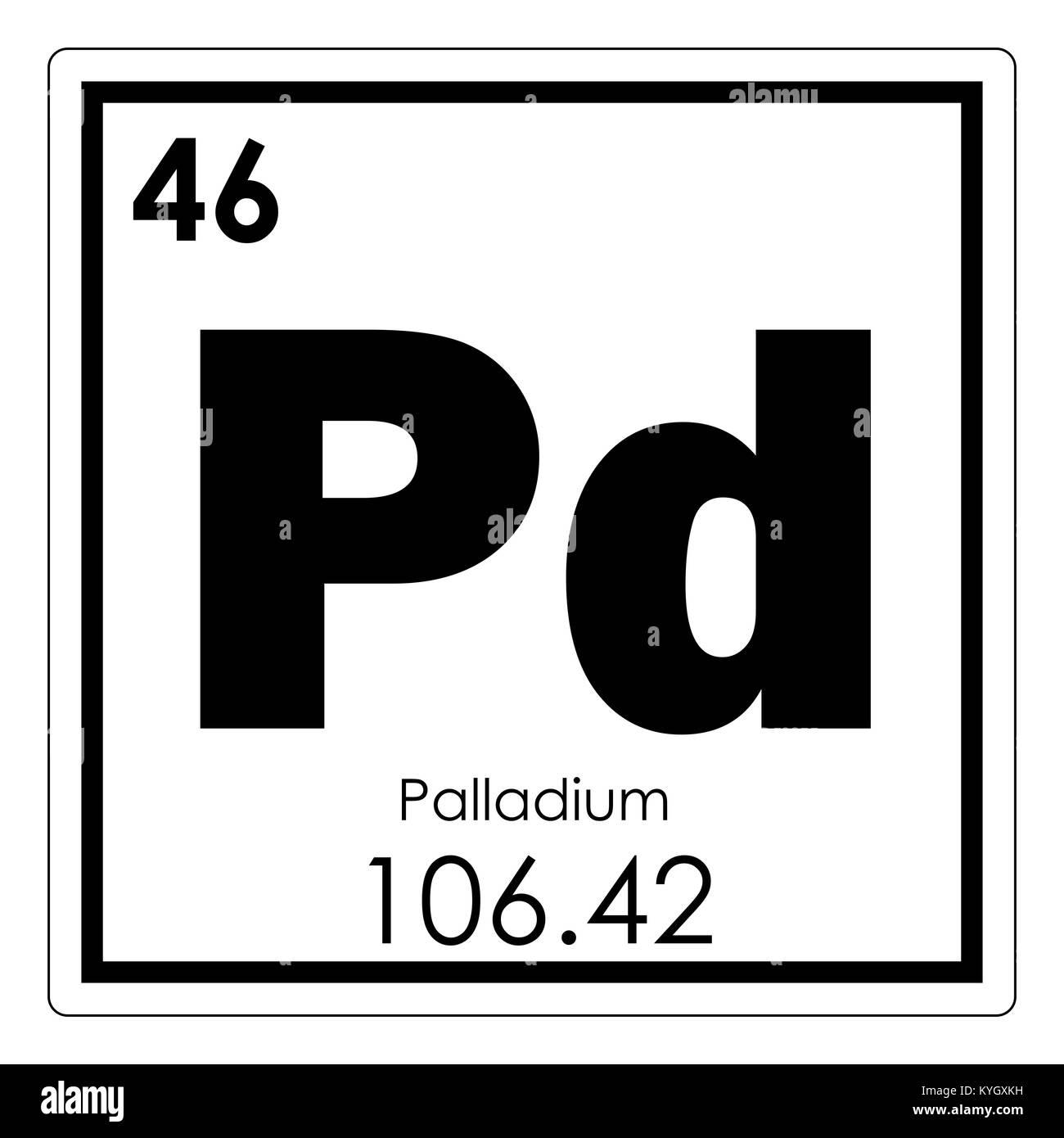 Palladium chemical element periodic table science symbol stock photo palladium chemical element periodic table science symbol buycottarizona Images