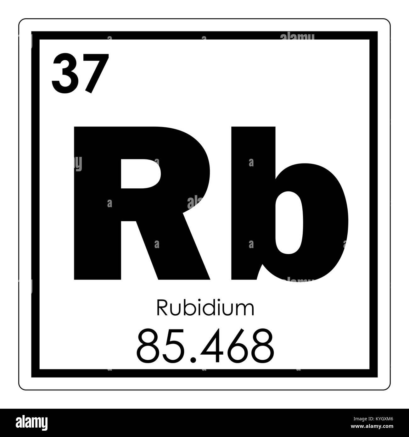 Rubidium chemical element periodic table science symbol stock photo rubidium chemical element periodic table science symbol buycottarizona Choice Image