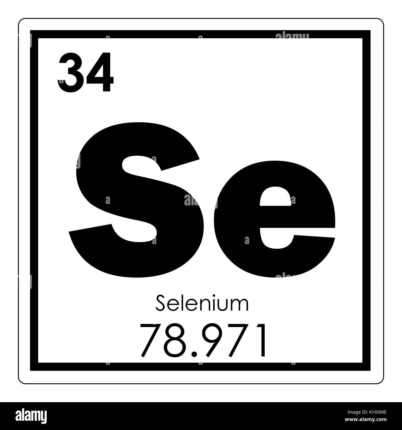 Selenium chemical element periodic table science symbol stock selenium chemical element periodic table science symbol buycottarizona