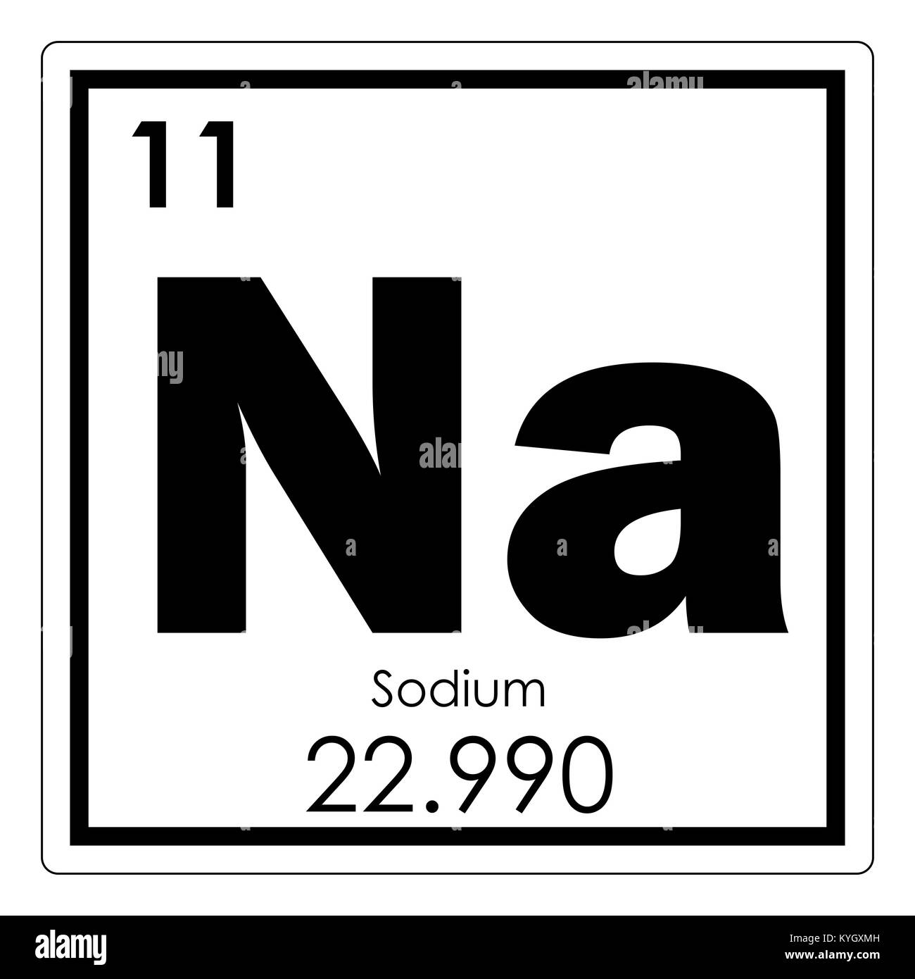 Sodium chemical element periodic table science symbol stock photo sodium chemical element periodic table science symbol urtaz Gallery