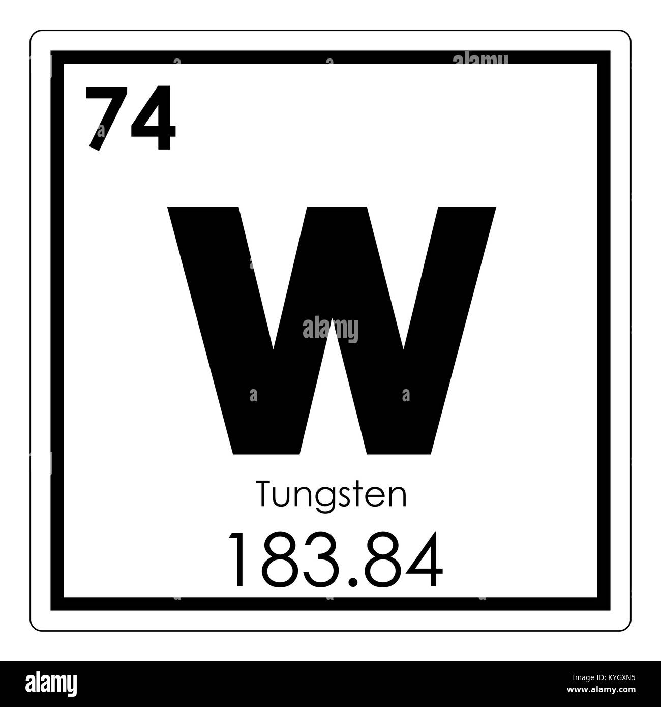 Tungsten chemical element periodic table science symbol stock photo tungsten chemical element periodic table science symbol urtaz Images