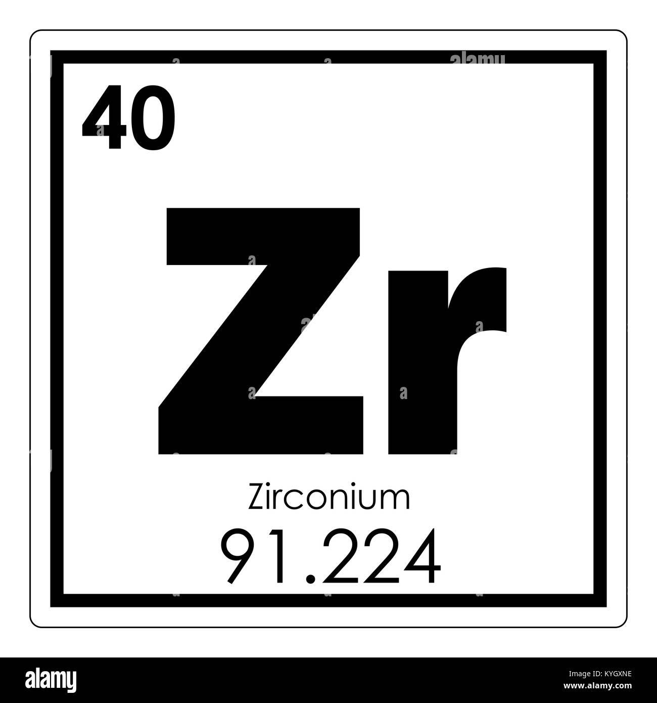 Zirconium chemical element periodic table science symbol stock photo zirconium chemical element periodic table science symbol urtaz Image collections