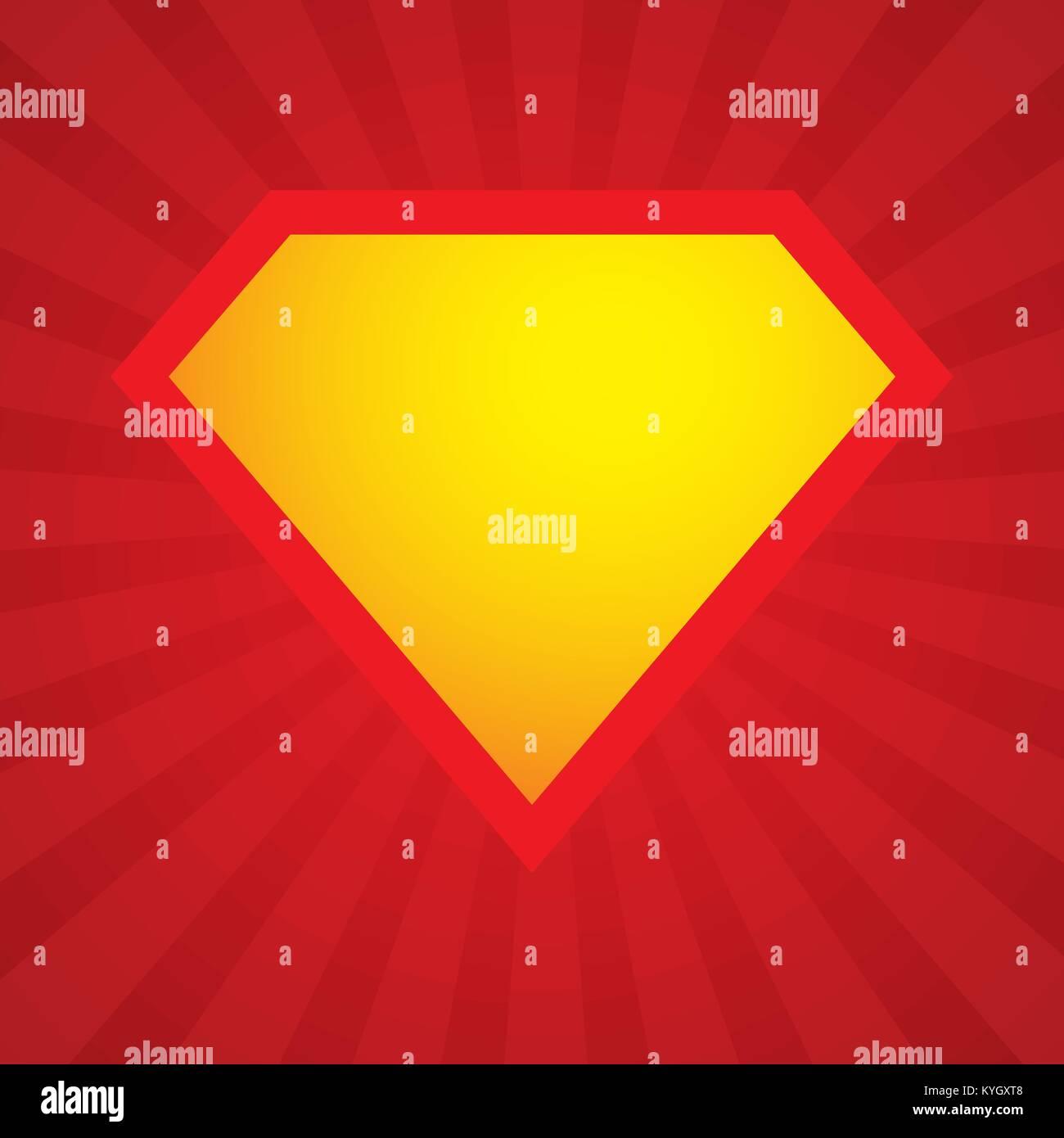 superhero logo template vector superhero icon stock vector art