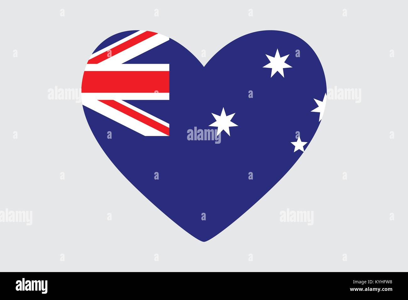 Heart in colors and symbols of the australia flag vector stock heart in colors and symbols of the australia flag vector biocorpaavc Choice Image