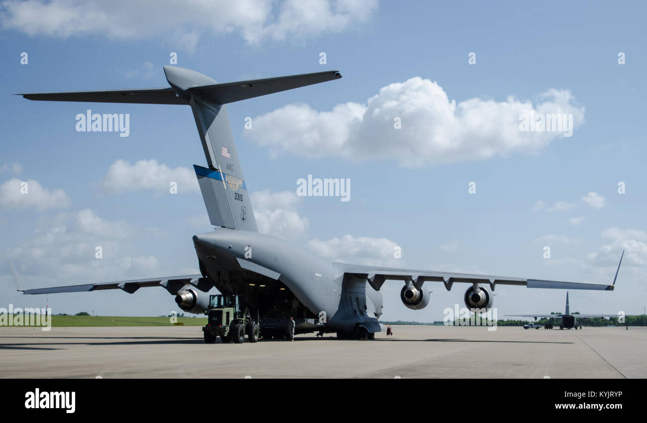 Marvelous Airmen From The Kentucky Air National Guardu0027s 123rd Contingency Response  Group Offload Cargo From A Mississippi