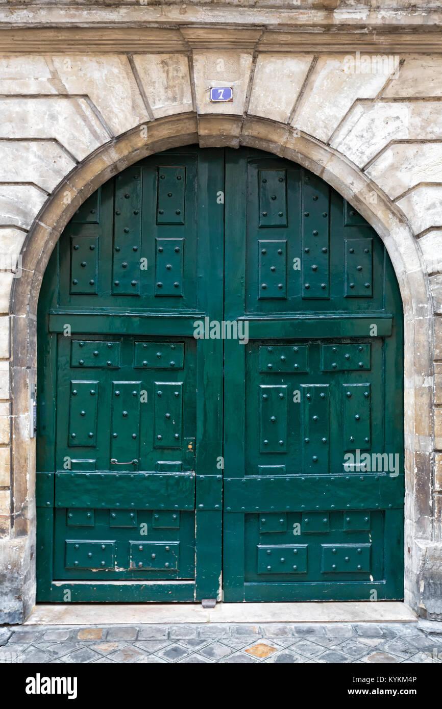 Paris France Picturesque Arched Antique Double Front Entry Door