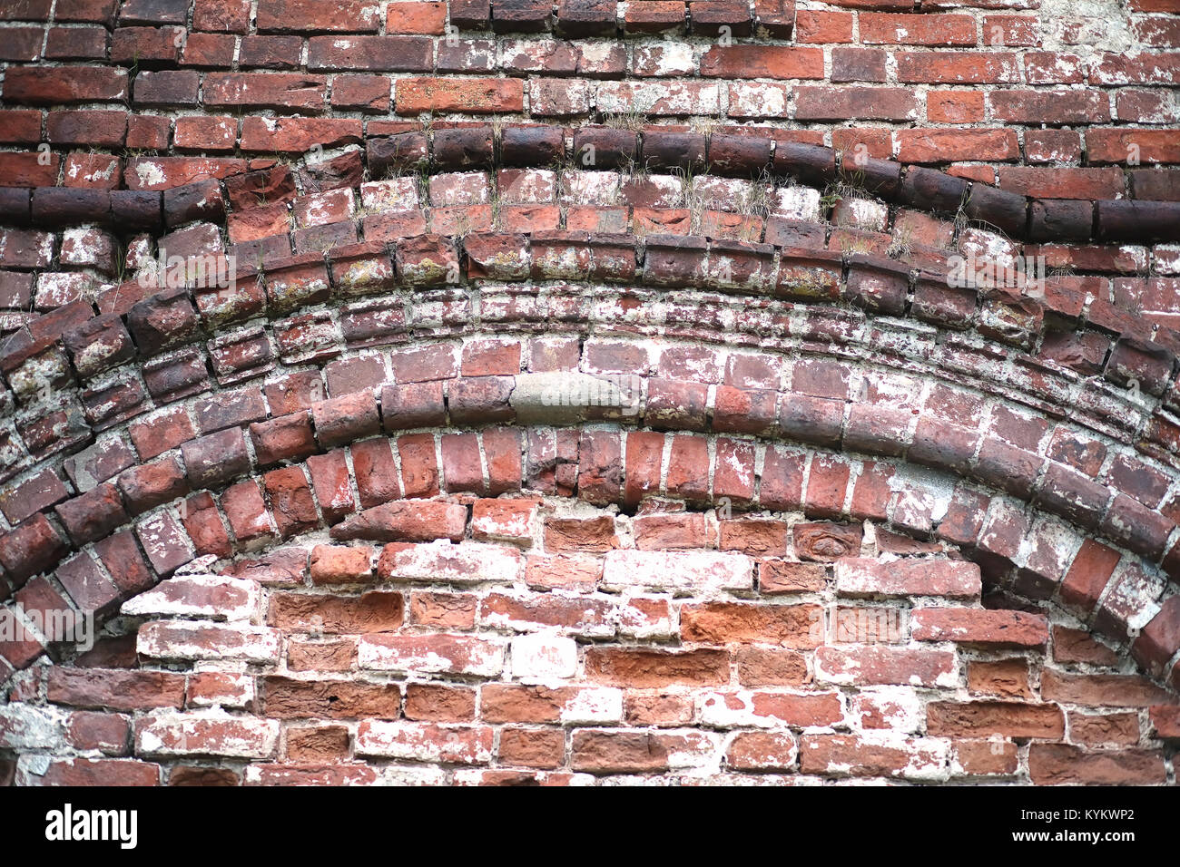 Old Brick Wall With White And Red Bricks Stock Photos