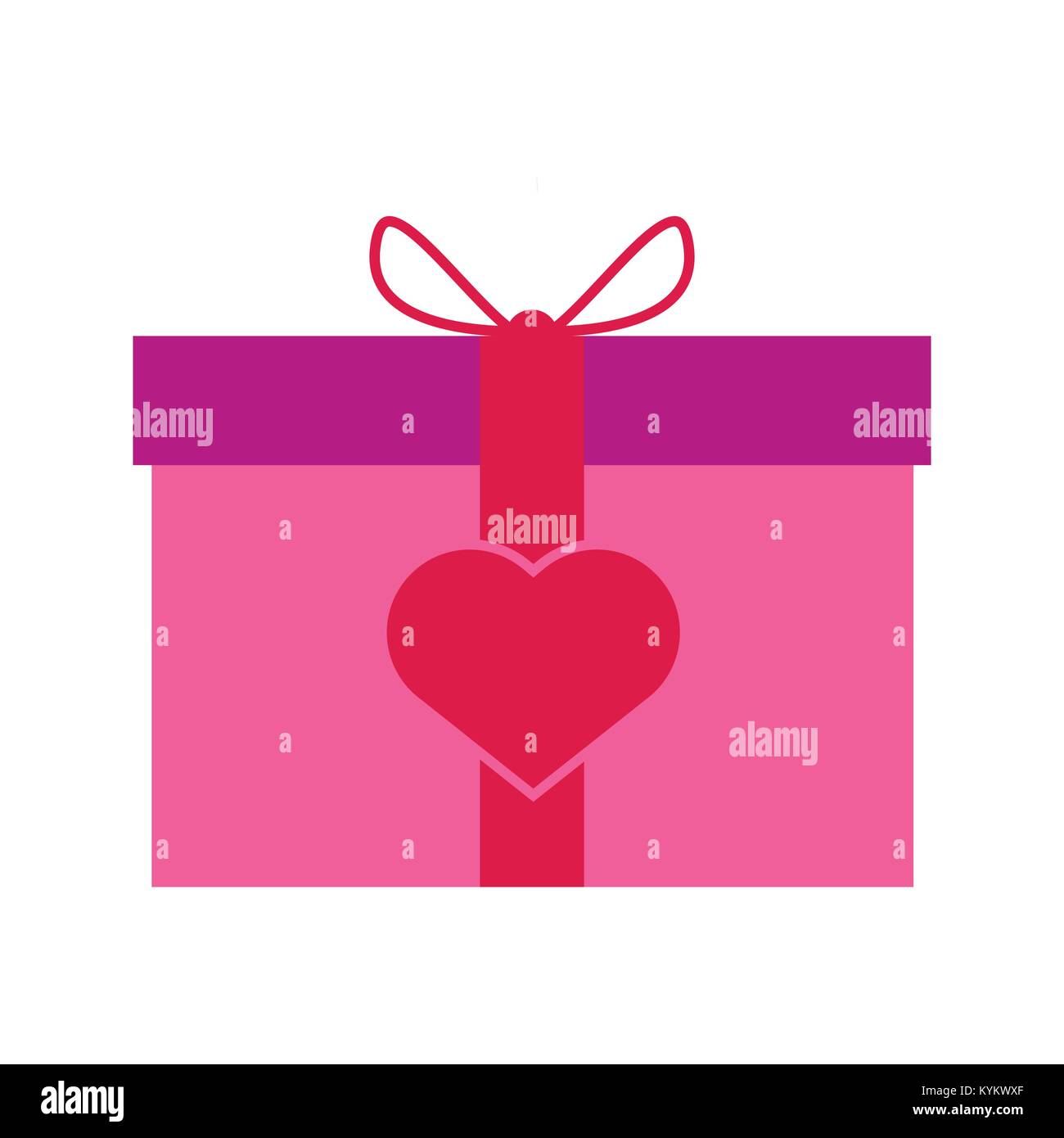 Valentine Gift Box Vector Illustration Graphic Design Stock Vector