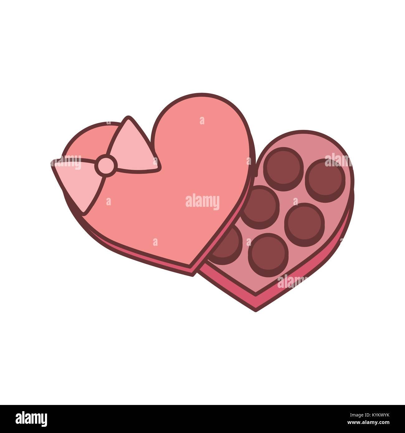 Chocolate Box Valentine Gift Vector Illustration Graphic Design