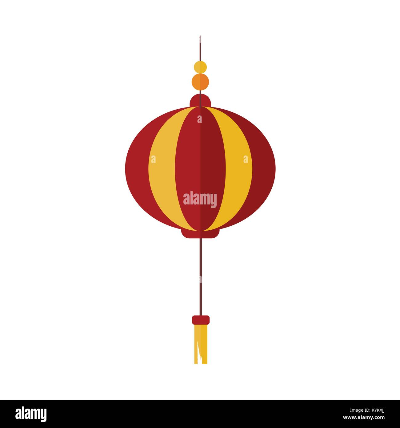 simple gold red chinese lantern vector illustration graphic design