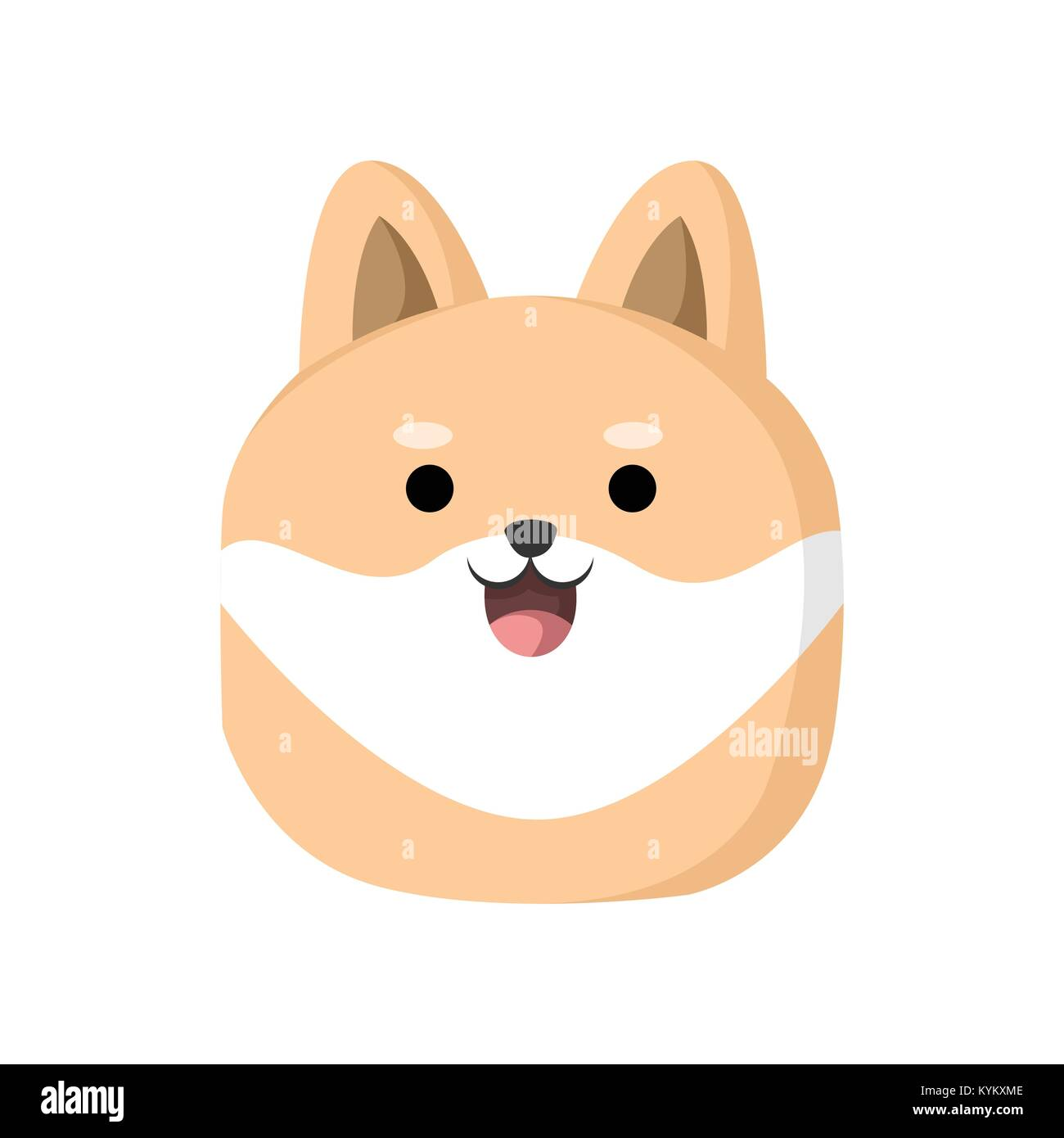 Cute Dog Cartoon Character Vector Illustration Graphic Design Stock