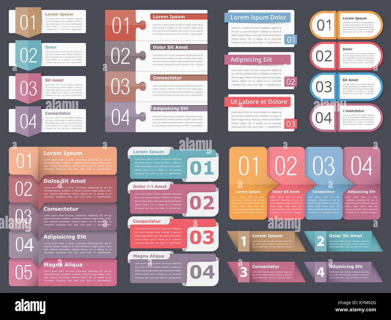 Infographic templates with numbers and text business infographics infographic templates with numbers and text business infographics elements set workflow process steps or options vector eps10 illustration friedricerecipe Images