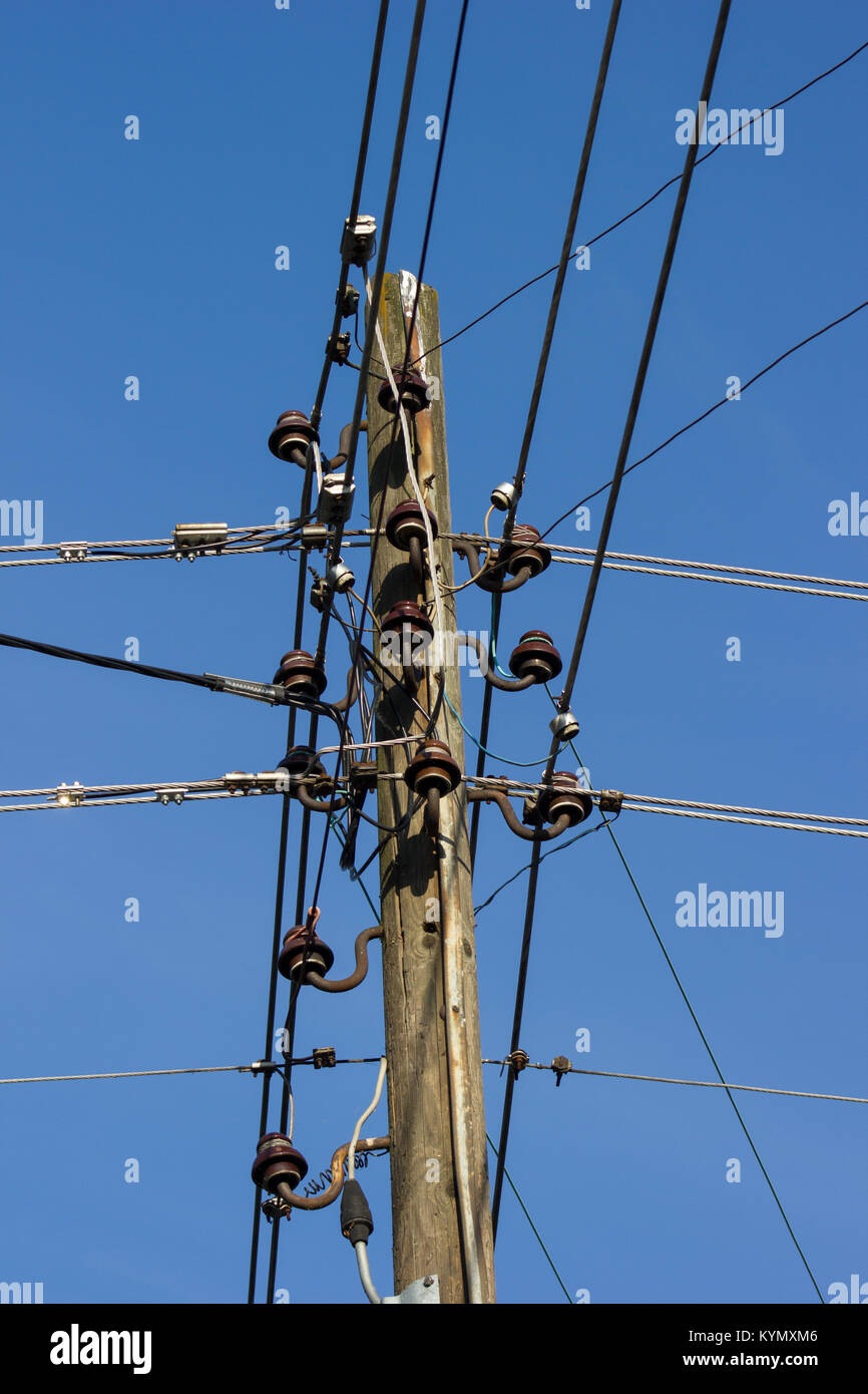 Telephone Wiring Equipment Diagram Master Blogs Pole Wires Wooden With Electrical And Communication Stock Rh Alamy Com Basics