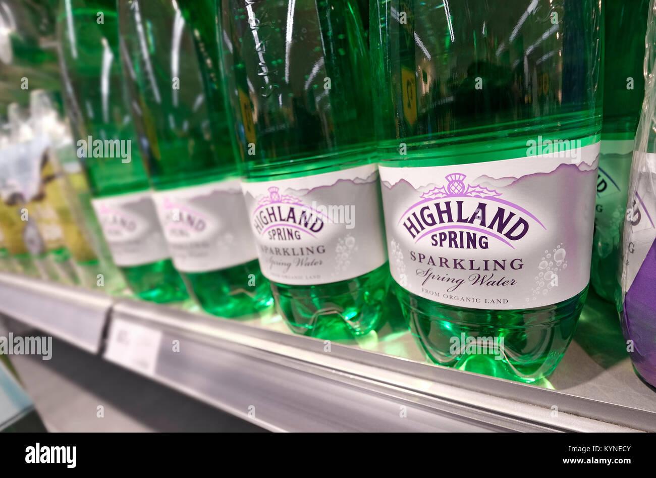 Bottles of water shelf stock photos bottles of water shelf stock highland spring water in green plastic bottles on supermarket shelf stock image biocorpaavc