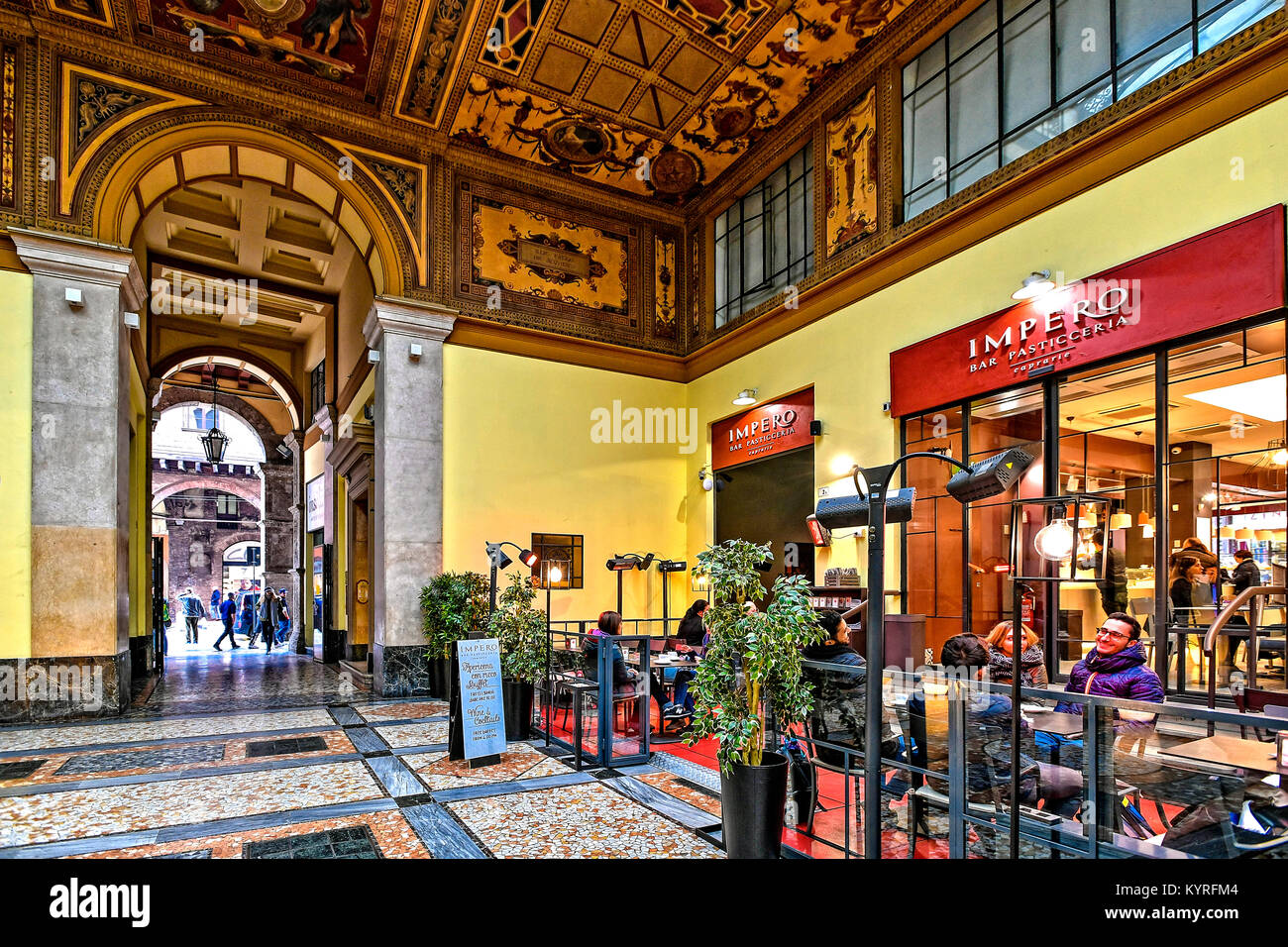 Italy Emilia Romagna Bologna - Leone Gallery Stock Photo: 172006244 ...