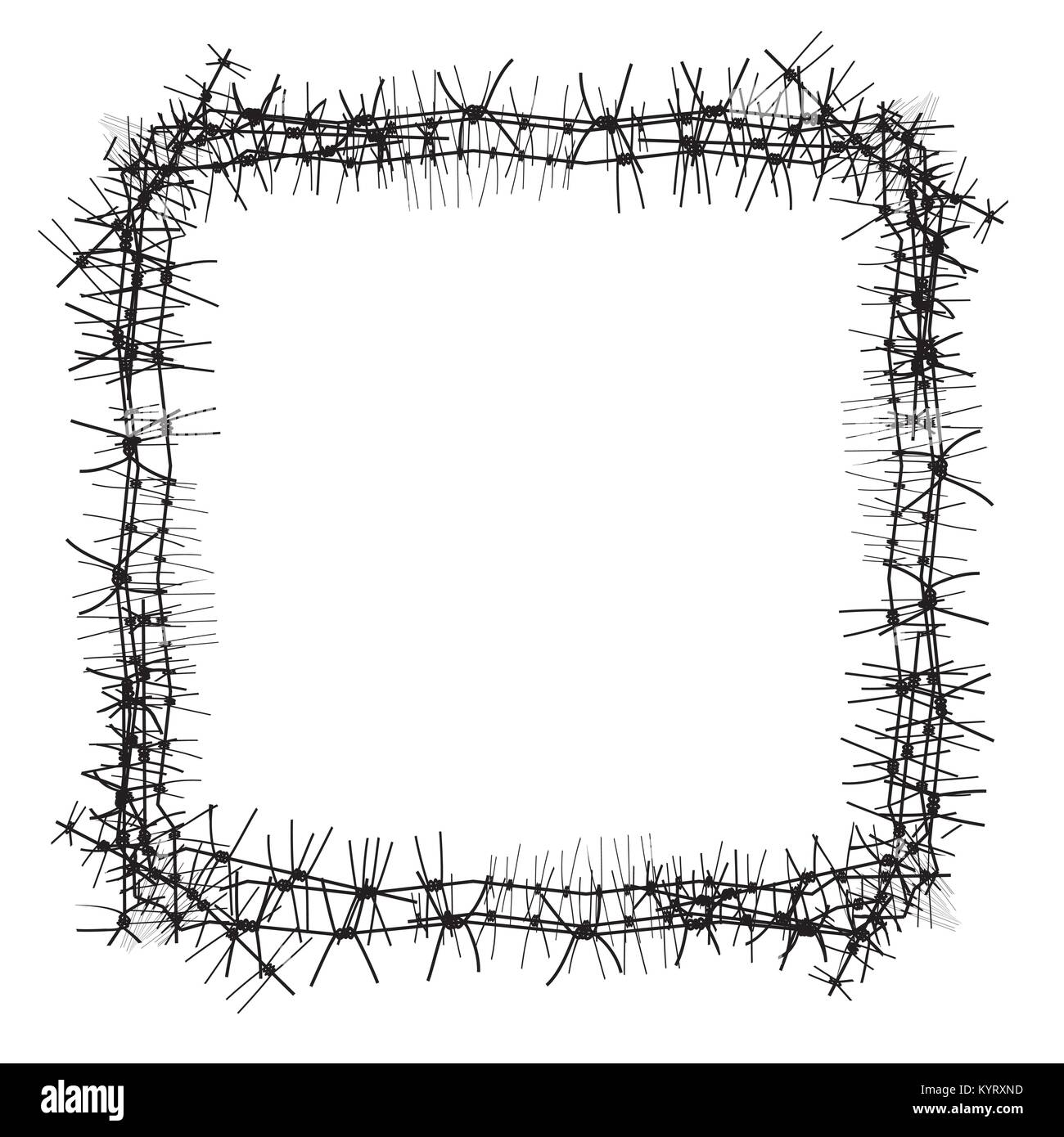 Barbed Wire Fence In Military Stock Photos & Barbed Wire Fence In ...