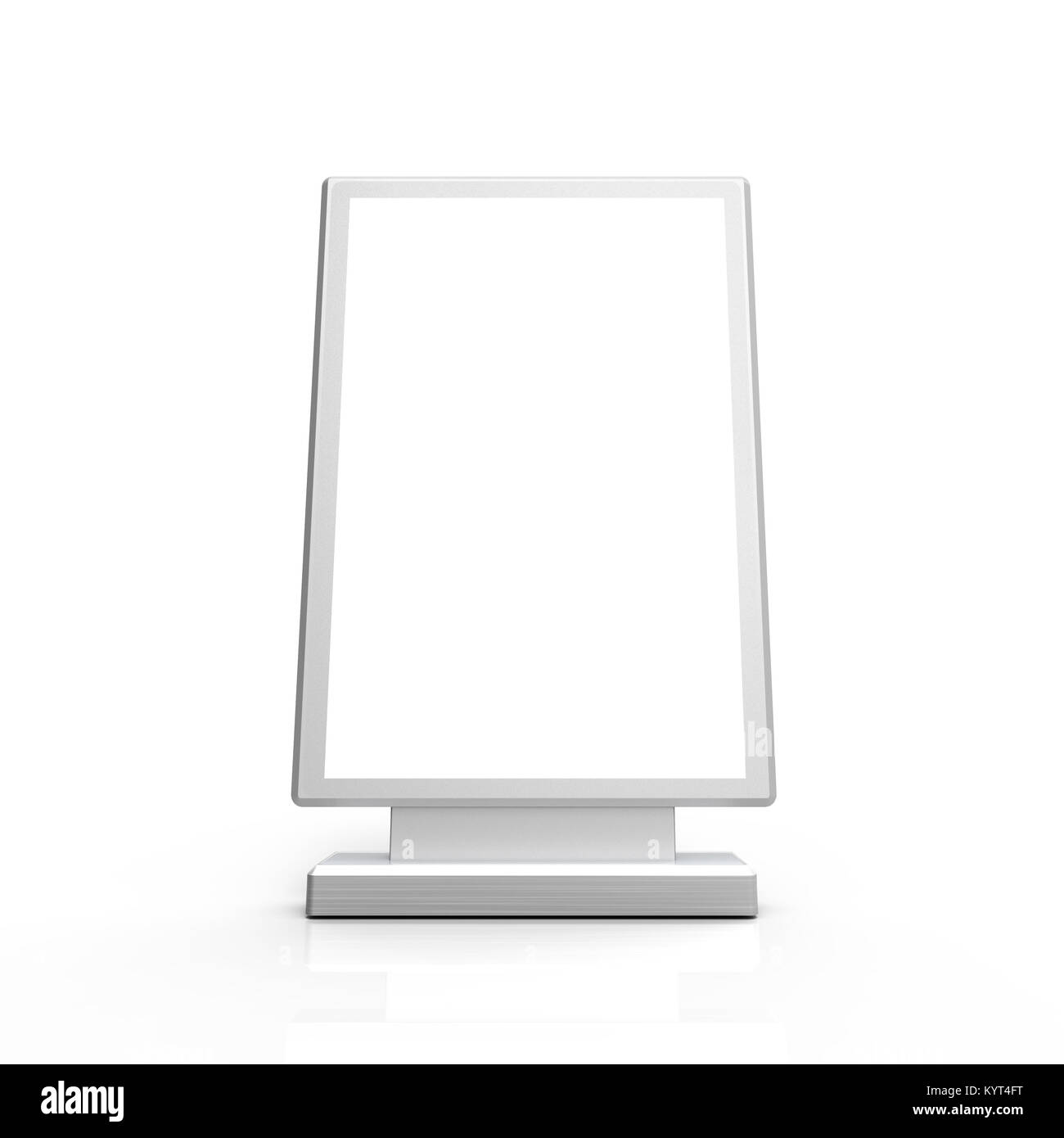 rectangle light box mockup 3d rendering sign board template for