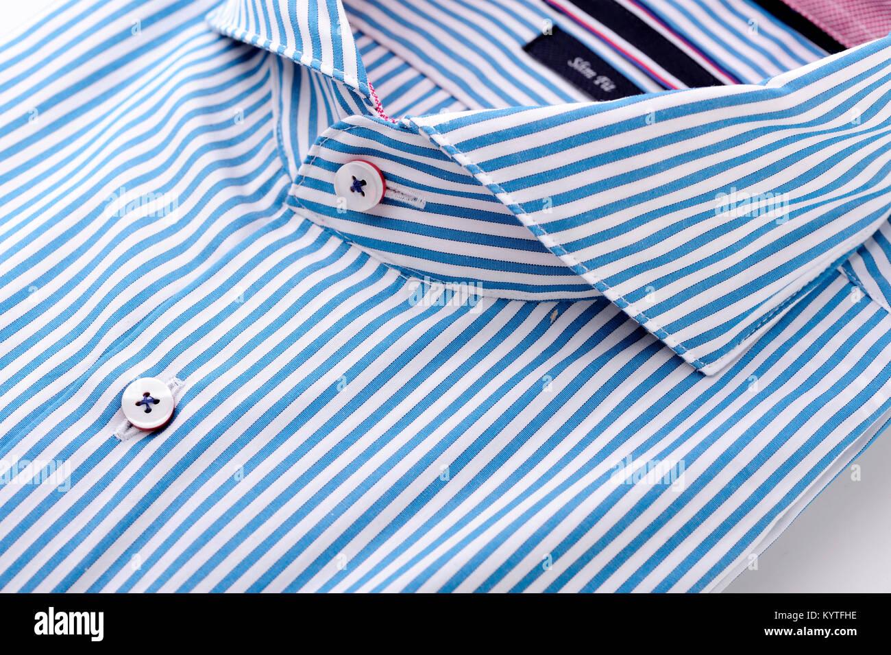 Shirt Classic Man Male Fashion Graphic Collar Fabric Stock