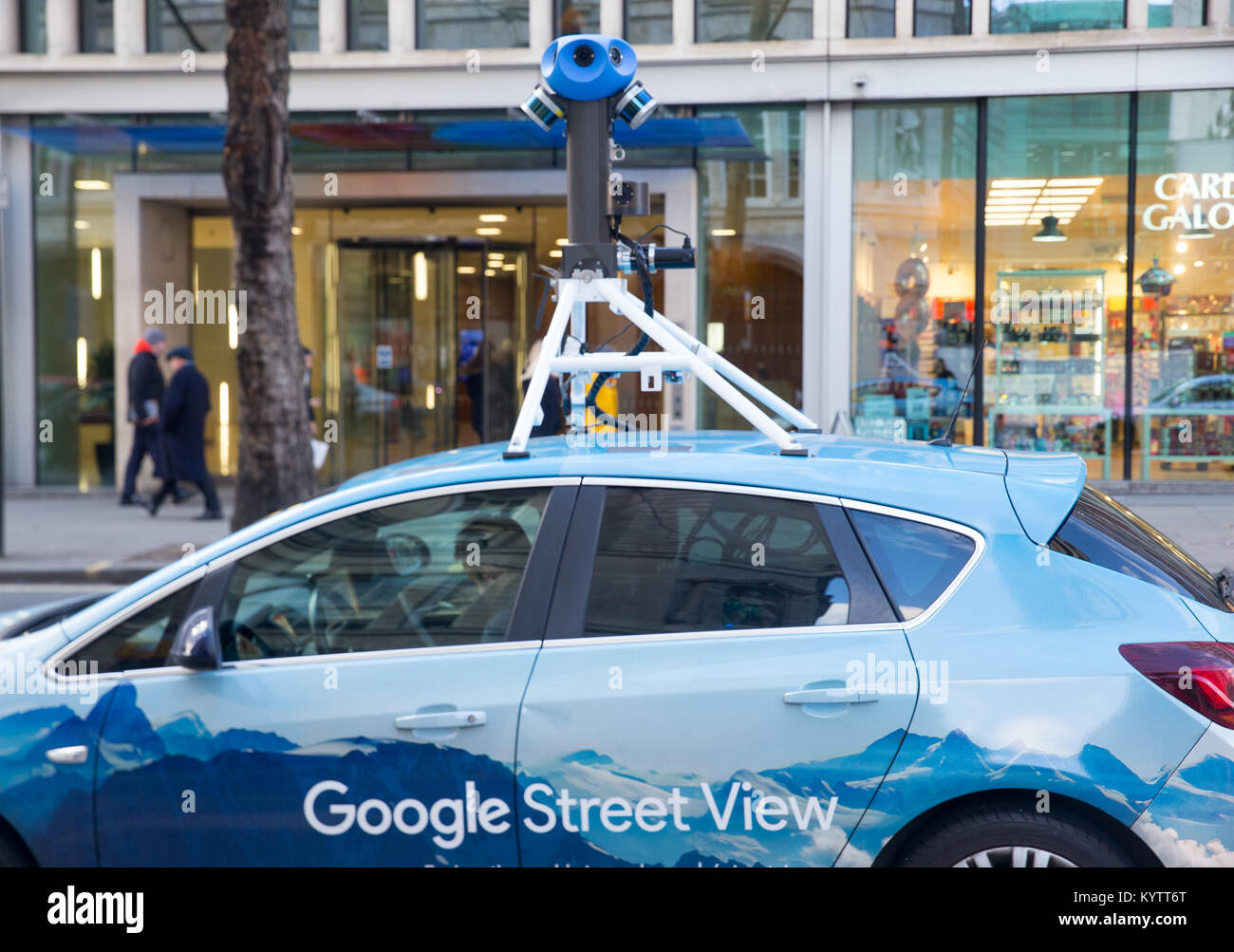 a google earth street view car mounted with a 360 degree camera