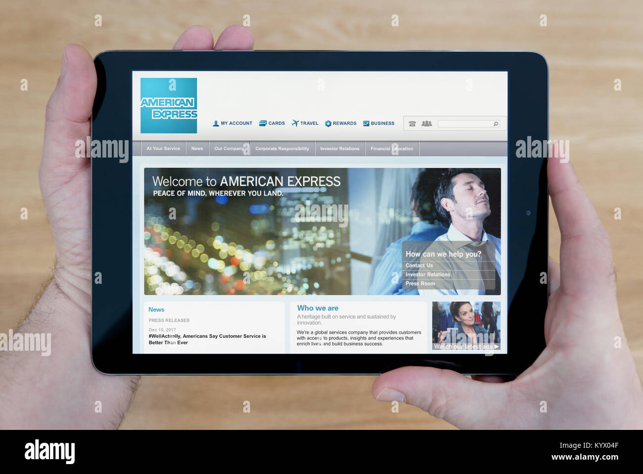 American branding stock photos american branding stock images alamy a man looks at the american express website on his ipad tablet device with a kristyandbryce Images