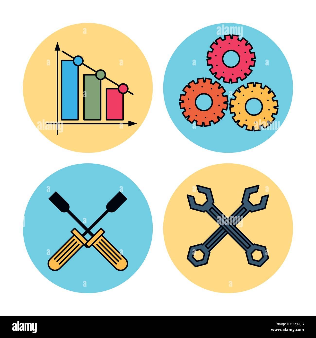 Technical service icons Stock Vector Art & Illustration, Vector ...