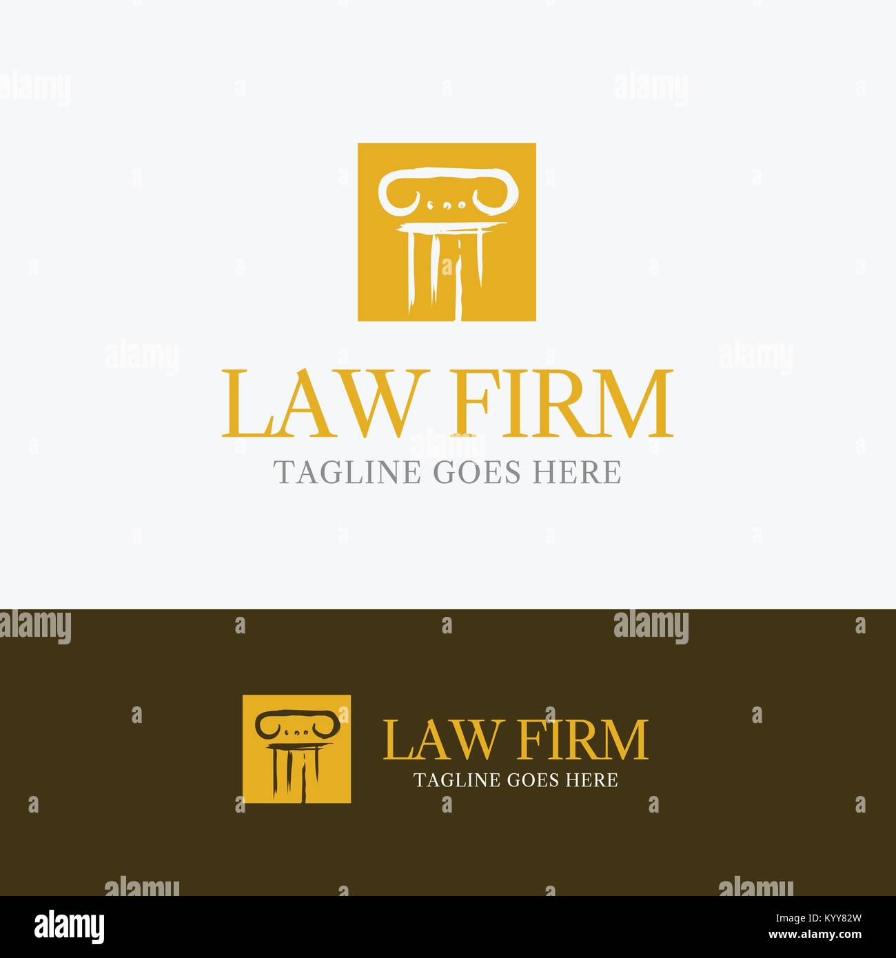 Law Firm Logo template element symbol with pillar line Stock Vector ...