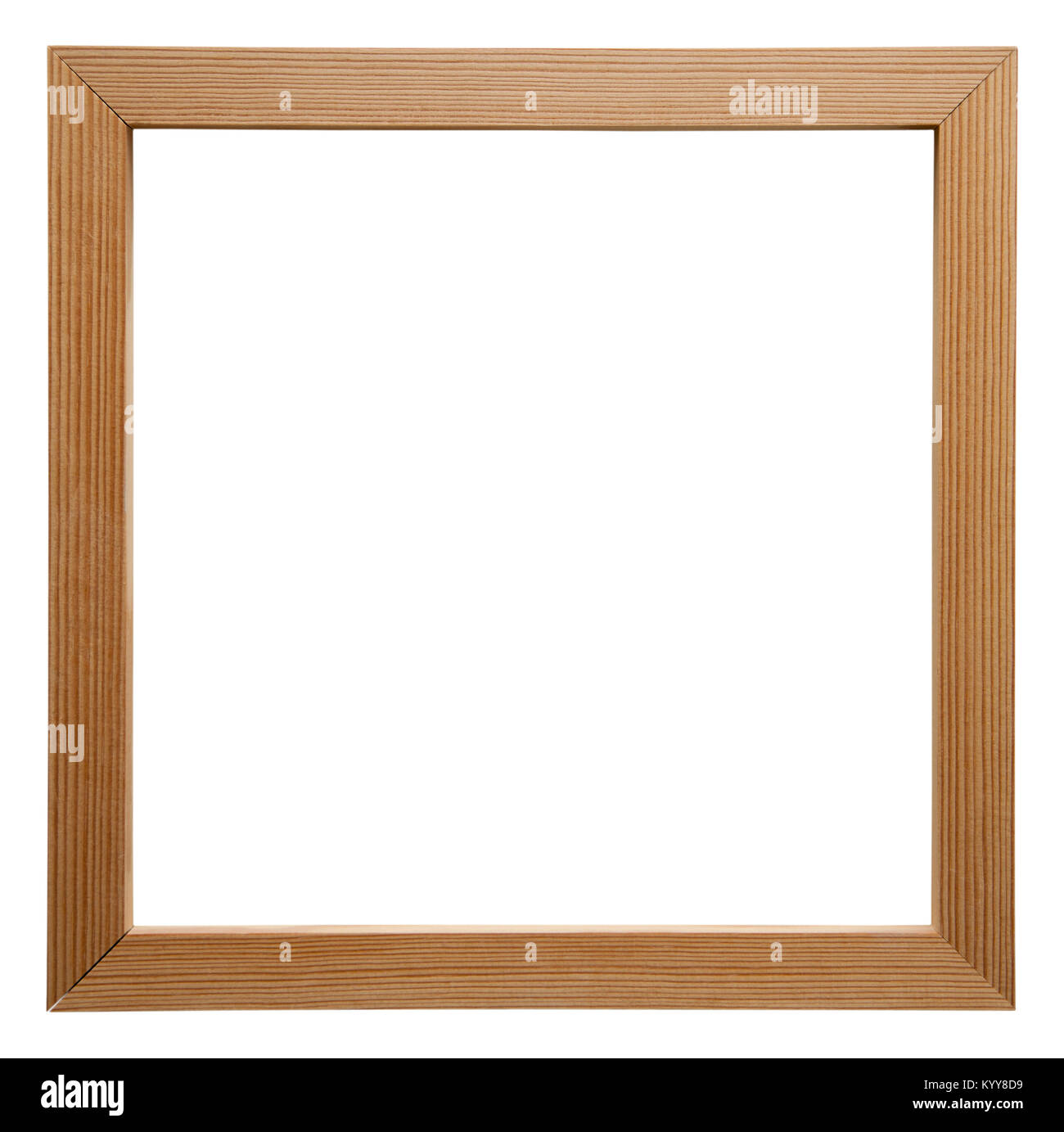 Empty picture frame isolated on white, square format, in a simple ...