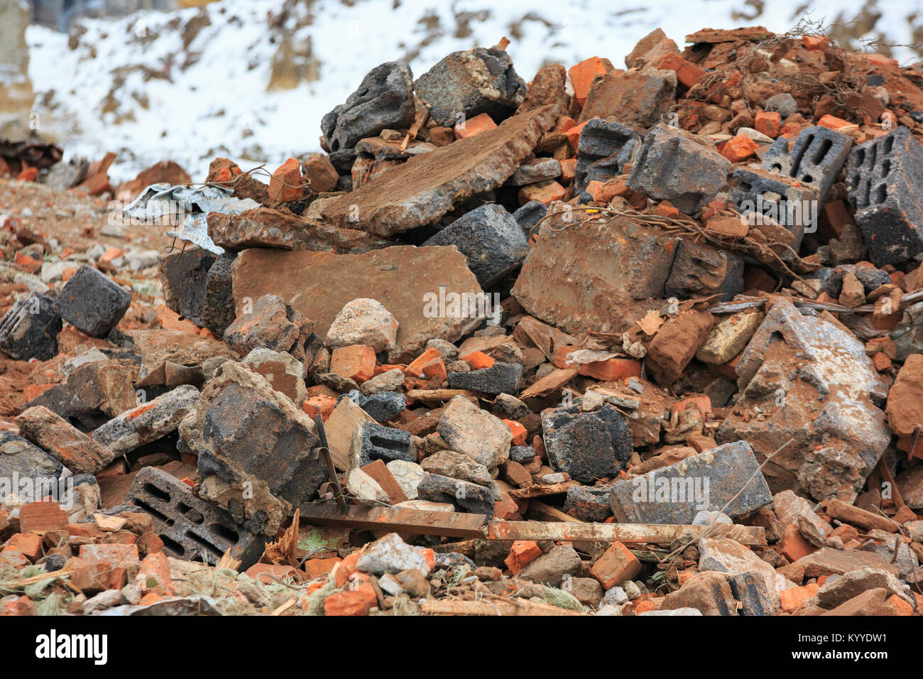 Pile Of Building Debris : Building demolition by implosion stock photos