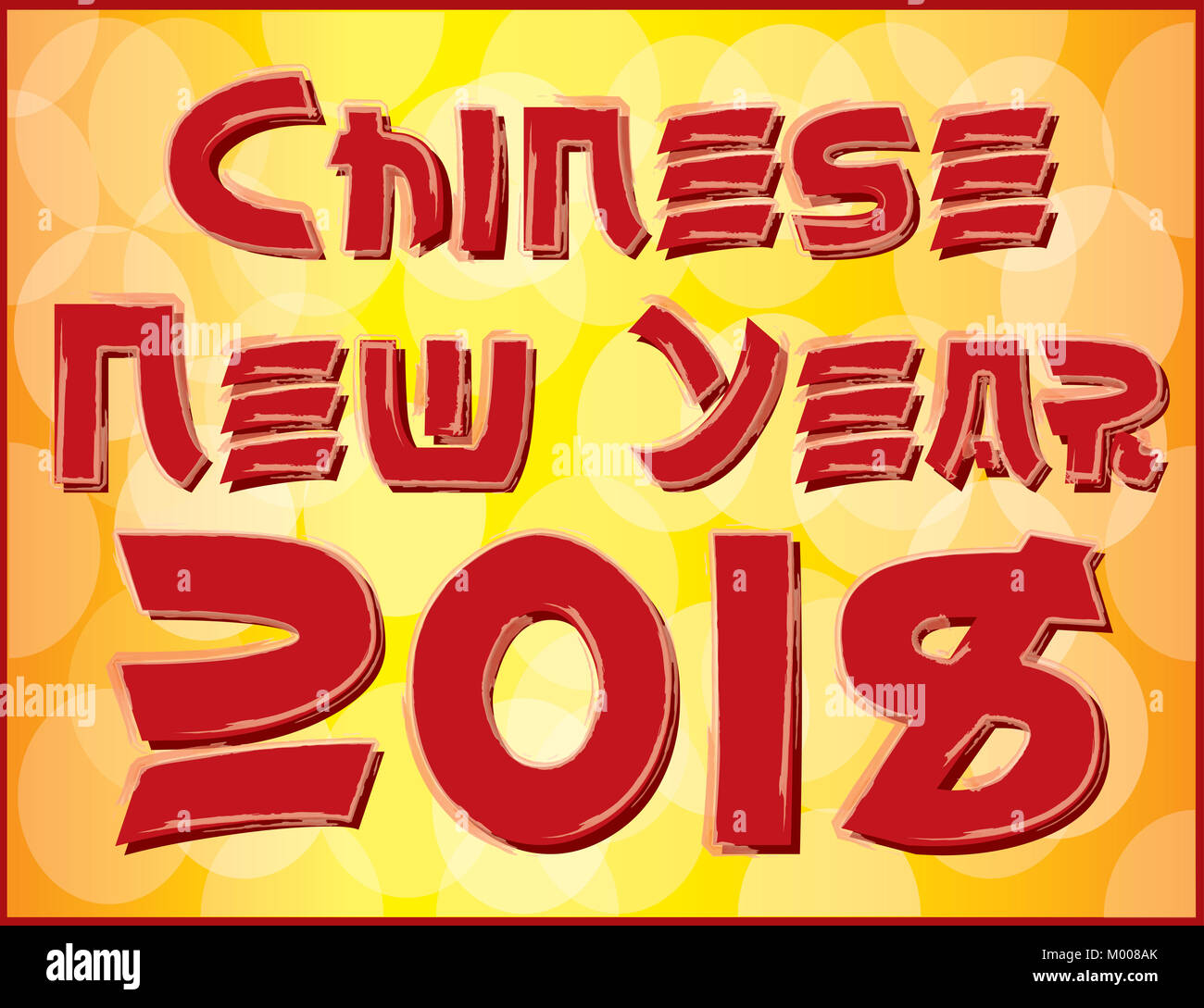 chinese new year 2018 banner logo in red and gold