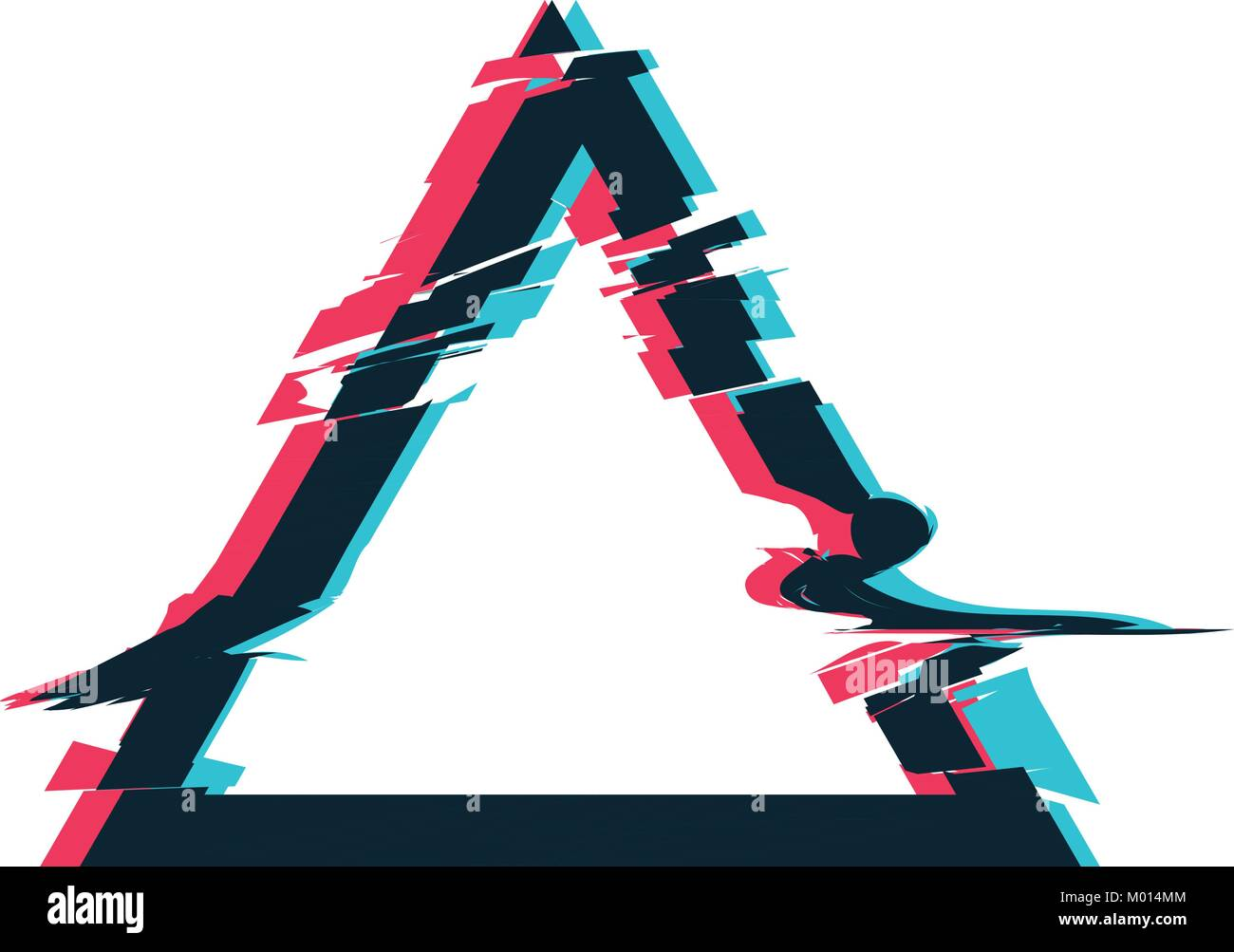 Glitch distortion frame. Vector triangle illustration Stock Vector ...