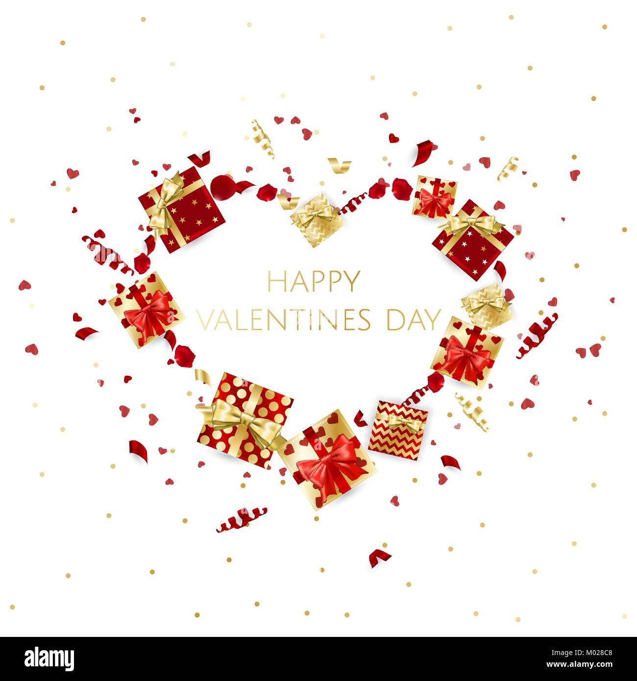 Valentines Day Background With Heart Vector Illustration Wallpaper
