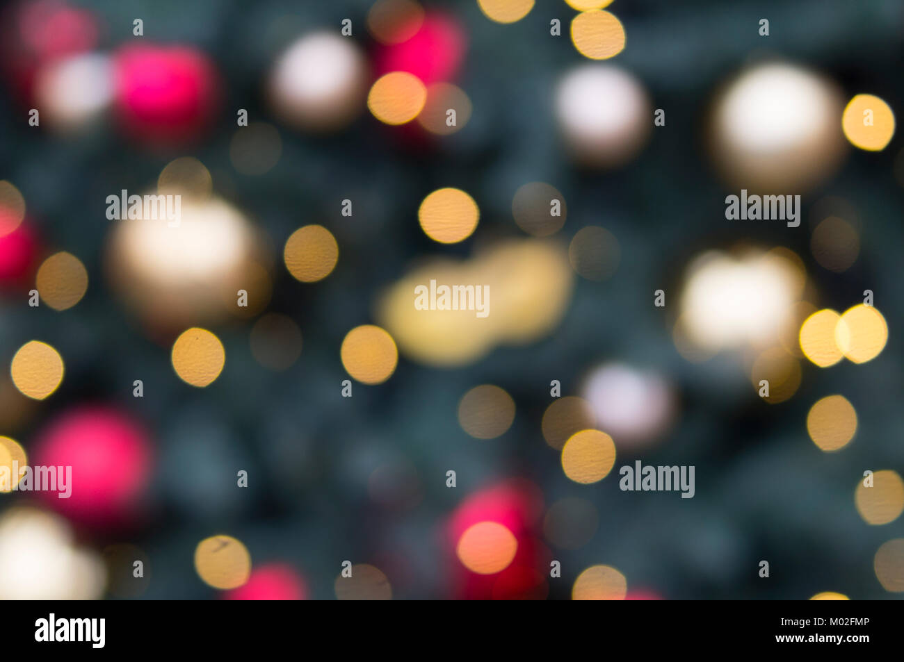 bokeh of christmas colored lights background texture