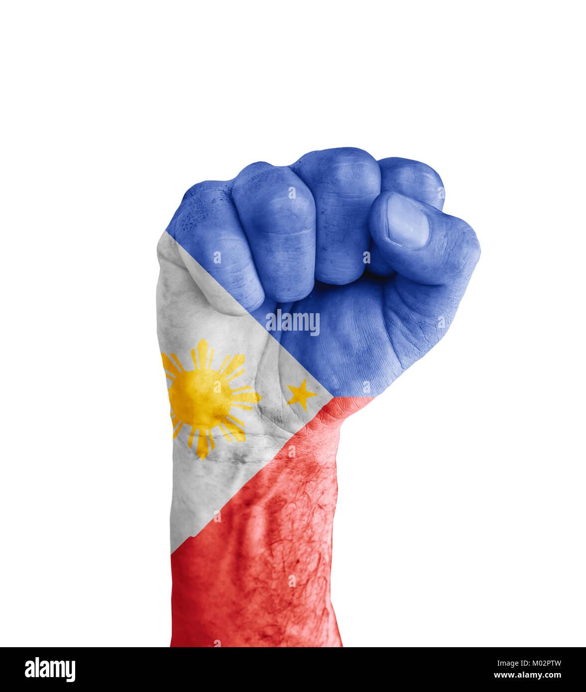 Flag of philippines painted on human fist like victory symbol flag of philippines painted on human fist like victory symbol buycottarizona Images