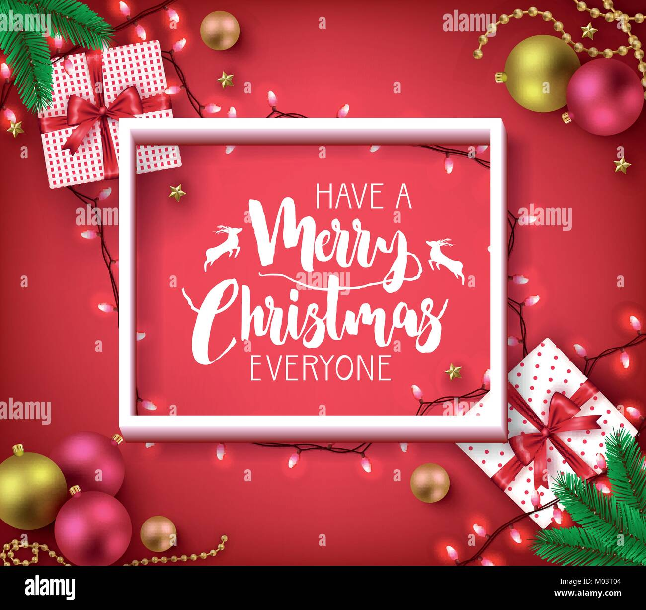 Have A Merry Christmas Everyone Greeting Typography Poster Inside of ...