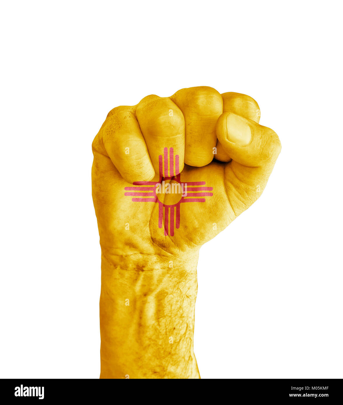 Flag of us new mexico state painted on human fist like victory flag of us new mexico state painted on human fist like victory symbol buycottarizona