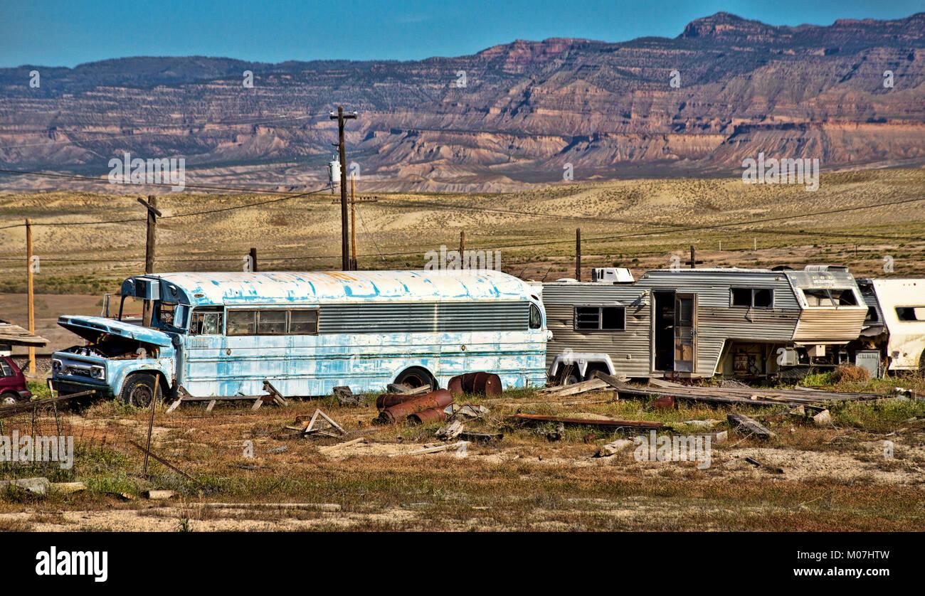 Vehicle junkyard in Utah Stock Photo, Royalty Free Image: 172271369 ...