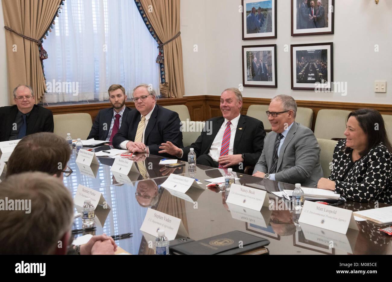 U S Secretary Interior Ryan Zinke Stock Photos U S